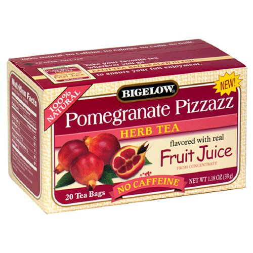 Buy Bigelow Pomegranate Pizzazz Herbal Tea, Tea Bags, 20-Count Boxes (Pack of 12) (Bigelow, Health & Personal Care, Products, Food & Snacks, Beverages, Tea, Herbal Teas)