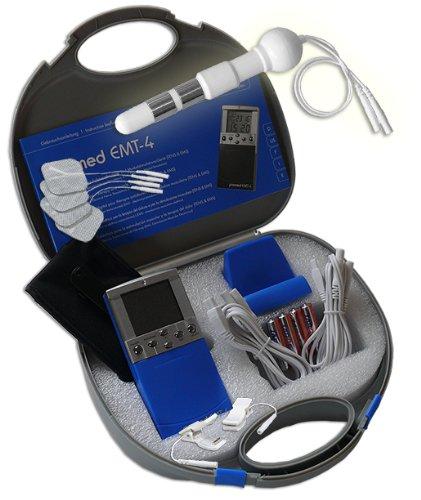 EMS / Tens 2-Kanal Reizstromgerät EMT-4 plus Anal- / Vaginalsonde PR-09 + Klemmen. Medizinprodukt für wirksame Schmerz- und Muskelbehandlung