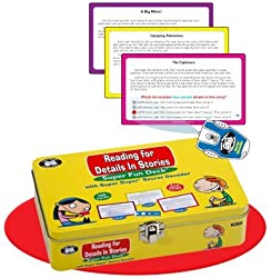 Reading for Details in Stories Fun Deck with Secret Decoder - Super Duper Educational Learning Toy f