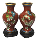 Chinese cloisonne vases - set of 2, 3