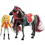 Lansay - 12058 - Horseland - Figurine - Animaux  - Cheval Avec Personnage Articulé - Sarah Et Scarlet