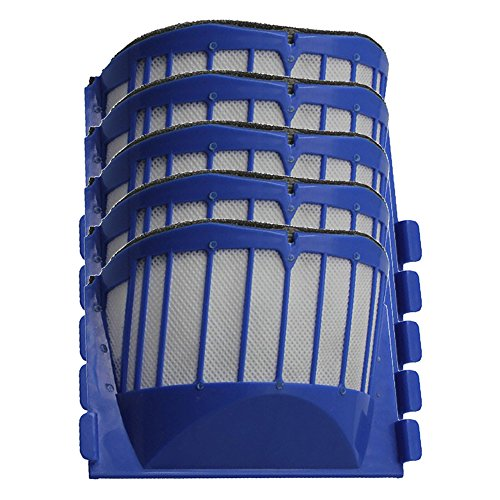 Iautomatic 5 Aero Vac Filters for iRobot Roomba 500 600 Series 536 550 551 620 650 Vacuum Cleaner Accessory (Irobot Roomba 650 Filter compare prices)