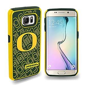 Oregon Ducks Galaxy S6 Edge Rugged Dual Hybrid Case Cover