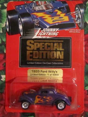 Johnny Lightning 1994 Special Edition 1933 Ford Willy's (Purple with Flames) Limited Edition 1 of 5,000 - 1