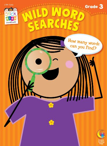 Wild Word Searches Stick Kids Workbooks, Grade 3 (A Word That Starts With J)