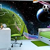 Non-woven !! Top !! Photo wallpaper ! Murals ! Wall Mural Photo !! 300x210 cm - Football Child 10110902-3 ! Free glue for each wallpaper !