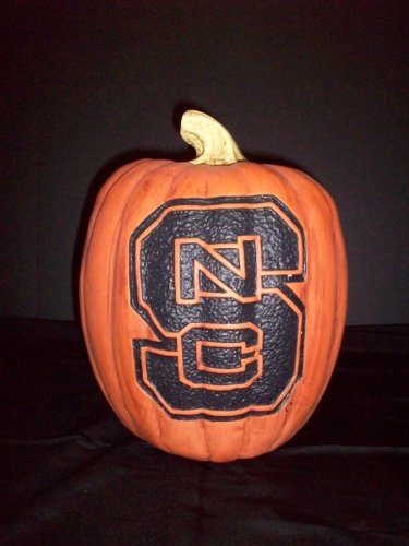 NCAA North Carolina State Wolfpack 7'' Resin Decorative Pumpkin