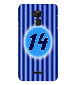 PrintDhaba Numerology Number 14 D-2570 Back Case Cover for COOLPAD NOTE 3 LITE (Multi-Coloured)