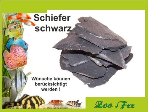 1-kg-Schiefer-schwarz-Aquarium-Terrassenbau-Dekoration
