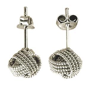 0 3 quot sterling silver twist knot stud earrings