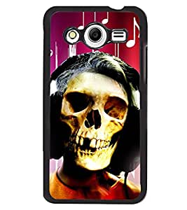 Fuson 2D Printed Skull Face Designer back case cover for Samsung Galaxy Core 2 - D4620