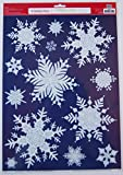 Holiday Time Christmas Window Clings - Snowflakes