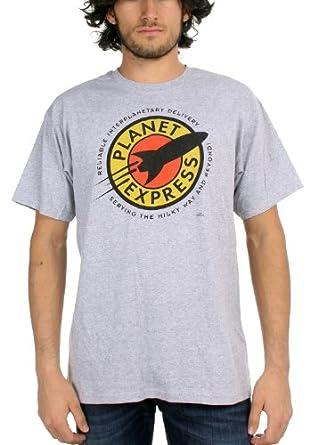 Futurama - Mens Planet Express Logo T-Shirt In Ash Grey, Size: Medium, Color: Ash Grey