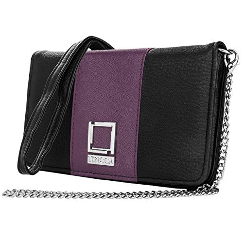 lencca-damen-clutch-lila-black-with-orchid-purple