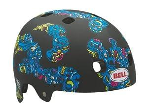 Bell Segment Multi-Sport Jimbo Phillips Melting Heads Helmet (Matte Blue/Green, Small)