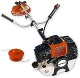 Nemaxx MT22 2en1 Herramienta combi de jardinería- Desbrozadora y Podadora multifunción de 52 cc y 3 CV de potencia