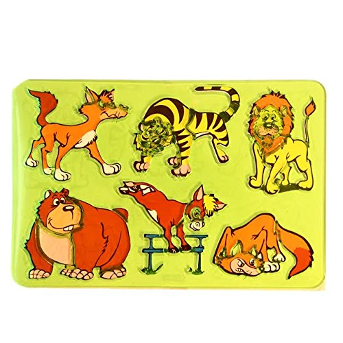 Dazzling Toys Design a Picture Safari Animal Stencil with 6 Animals (D288)