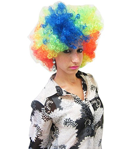 Clown Wig - Colorful Curly Clown Afro Wig