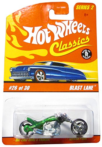 Hot Wheels Classics Series 2 2005 26 of 30 GREEN BLAST LANE 1:64 Scale Die Cast Body & Chassis Special Paint - 1