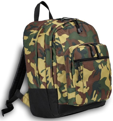 Camo Backpack Camouflage for Travel or School Bags, Camping Hunting- Best Unique Gifts For Child, Adults, Students,