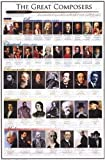 (24x36) The Great Composers Music Chart Poster
