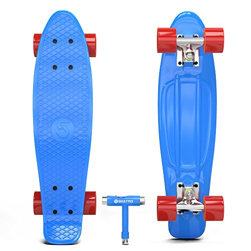 skatro mini cruiser skateboard 22x6inch retro style. Black Bedroom Furniture Sets. Home Design Ideas