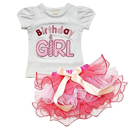 Baby Girls Little Princess T-shirt and Petticoat Skirt 2 piece Outfit