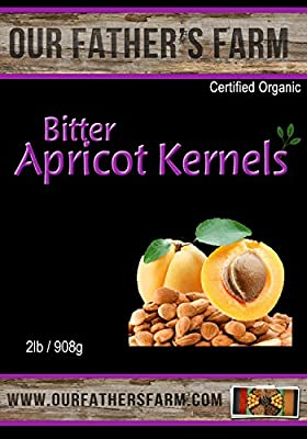 Bitter Raw Organic Apricot Seeds 2 Lb - 908 Grams from Our Father's Farm