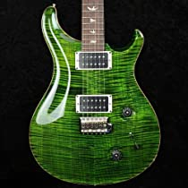 PRS Custom 22 2013 Model - Jade Green Flame 10 Top - HFS/Bass - Pattern Thin