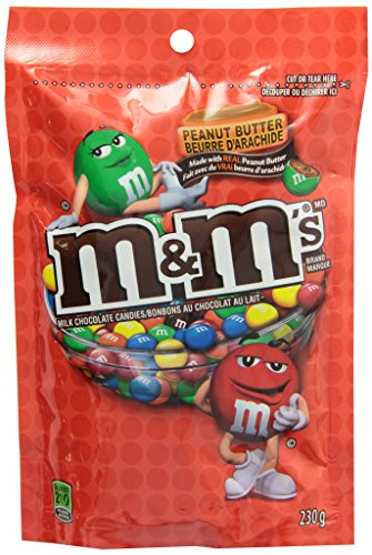 M&M's Peanut Butter Chocolate Candies Stand up Pouch 230g