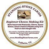 Standing Stone Farms Basic Beginner Cheese Making Kit - Mozzarella, Burrata, Burricota, Chevre, Ricotta, Marscapone & Butter!