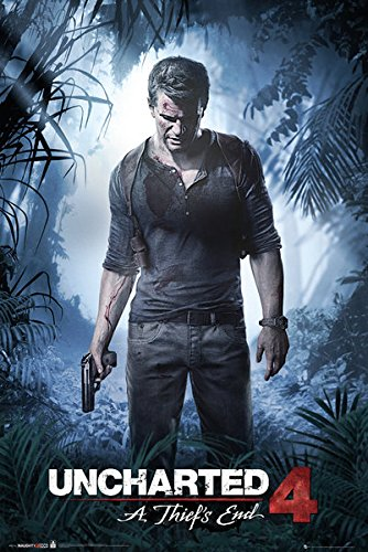 GB eye, Uncharted 4, A Thief's End, Maxi Poster, 61x91.5cm