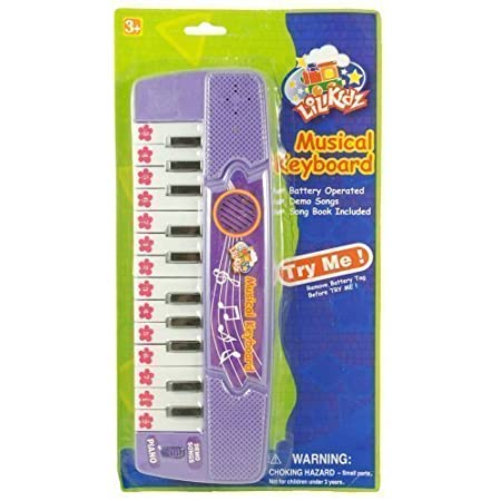 Little Kids 24 Key Mini Keyboard Piano, 8 Preloaded Demo Songs, Song Book and Batteries Included by Little Kids