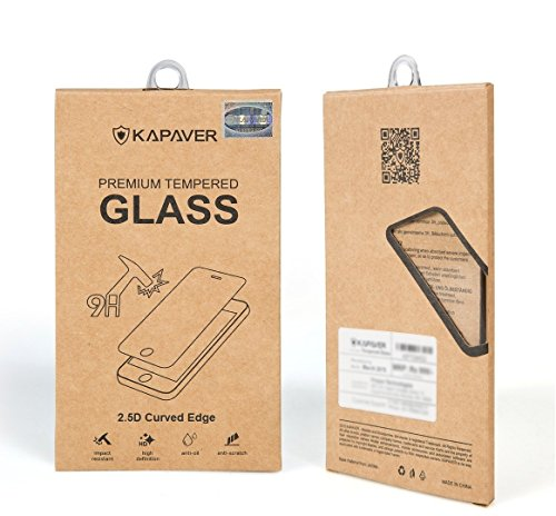 for Samsung S6 (SM-G920) not for S6 Edge KAPAVER® 2.5D Curved Edge 9H Hardness Premium Tempered Glass Screen Guard Protector (Comes with Warranty) Complimentary Premium Microfibre cloth (15cmx18cm)