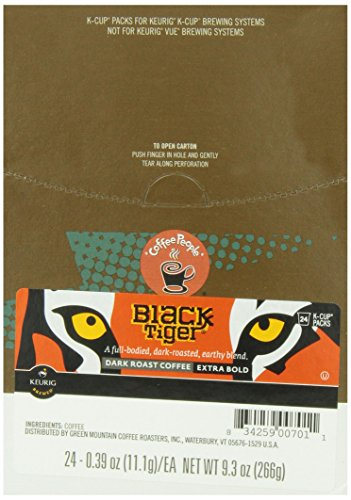Coffee People Black Tiger Dark Roast, 24-Count K-Cup Portion Pack for Keurig Brewers (Tiger Coffee compare prices)