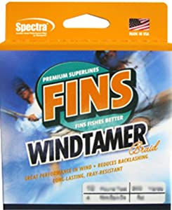 Fins Spectra 2000-Yards Windtamer Fishing Line by Fins Fishing Line