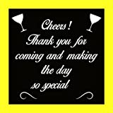 "Theme My Party ""Cheers! Thank You For Coming And Making The Day So Special"" Photo Frame"