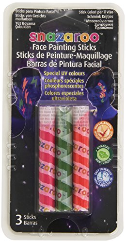 Snazaroo Face Paint Sticks - UV, Set of 3 - 1