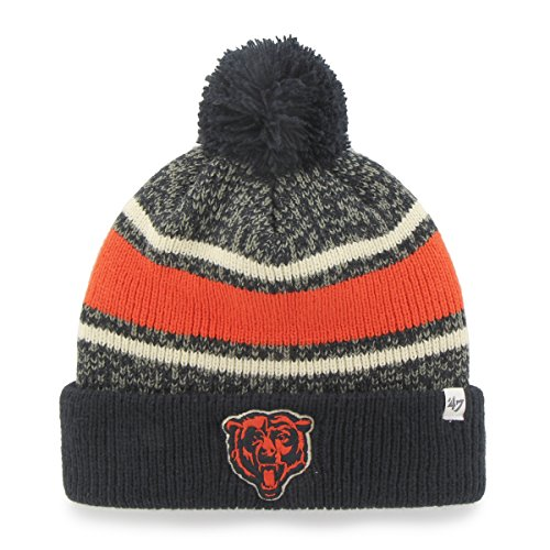 NFL Chicago Bears '47 Fairfax Cuff Knit Hat with Pom, One Size Fits Most, Navy (Bears Winter Hat compare prices)
