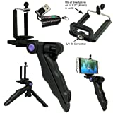 ChargerCity-Multi-Use-Handheld-Pistol-Grip-14-20-Tripod-Camera-Handle-Mount-with-Universal-Smartphone-holder-compatible-w-Apple-iphone-7-6s-Plus-6-SE-Samsung-Galaxy-S7-Edge-S6-Smartphone