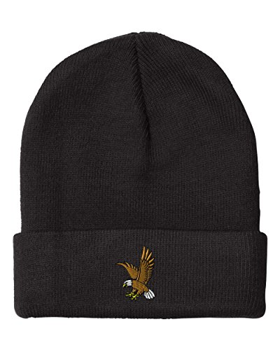 EAGLE IN FLIGHT SCHOOL MASCOT Embroidery Embroidered Beanie Skull Cap Hat