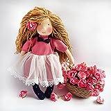 ANUSH- Handmade Soft Fabric Doll - Ecofriendly Doll - Natural - 100% Cotton