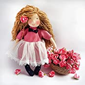 ANUSH- Soft Handmade Beautiful Fabric Doll - Ecofriendly Doll - Natural - 100% Cotton