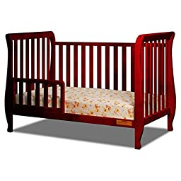 Baby Mile Hannah 4-in-1 Convertible Crib - Cherry