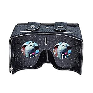 "Babadio Virtual Reality Headset DIY 3D Video Games VR Glasses PU Leather Cartoon Google Cardboard Kit for iPhone 6 6s Plus Samsung S6 S7 Edge and Other 4.0-5.5"" Smartphones (Black) from Babadio"