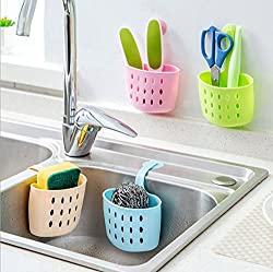 LussoLiv Multi-purpose Kitchen Storage Baskets Hanging Drain Bag Sink Sponge Bathroom Organizer Tools