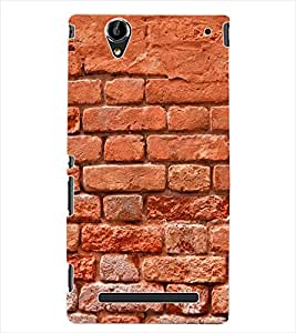 ColourCraft Brick Wall Back Case Cover for SONY XPERIA T2 ULTRA