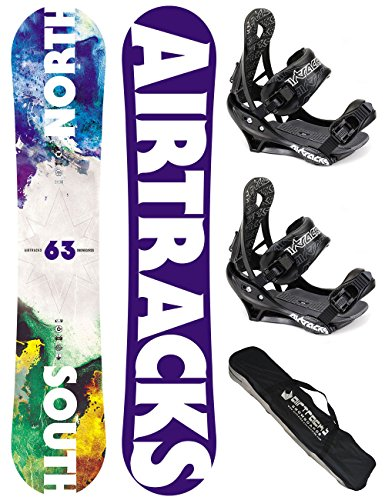 AIRTRACKS-SNOWBOARD-SET-PACK-PLANCHE-NORTH-SOUTH-WIDEFIXATIONS-SAVAGESB-SACNEUF