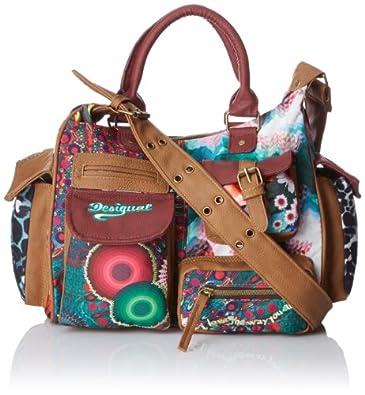 Desigual Womens Bols Amazonia-London Medium 3068 U Messenger Bag 41X51493068U Rot/Granate Medio One Size