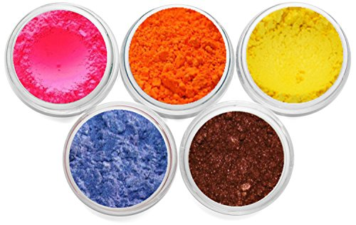 Mineral Makeup Pigment Powder Soap Dye Colorant Soap Making Soap Color Cosmetic Grade Matte & Shimmer Set Each Color Is Packed In 3 Gram Size Jar Myo 5 Piece (Pressed Soap compare prices)